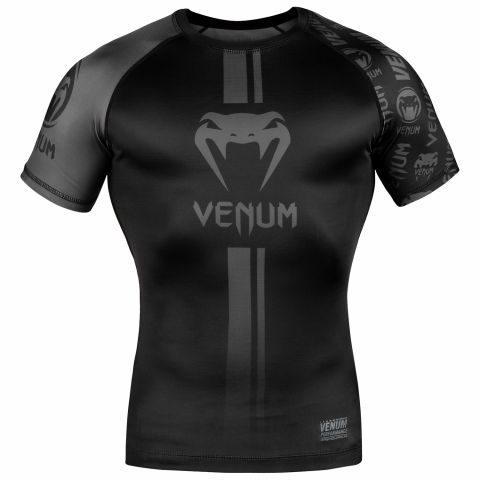 Venum Logos Rashguard - Short Sleeves - Black/Black