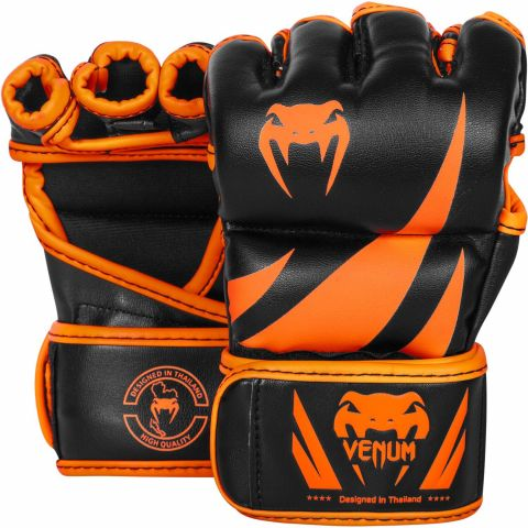 Venum Challenger MMA Gloves - Neo Orange/Black