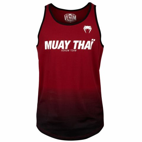 Майка Venum Muay Thai VT - Red Wine/Black
