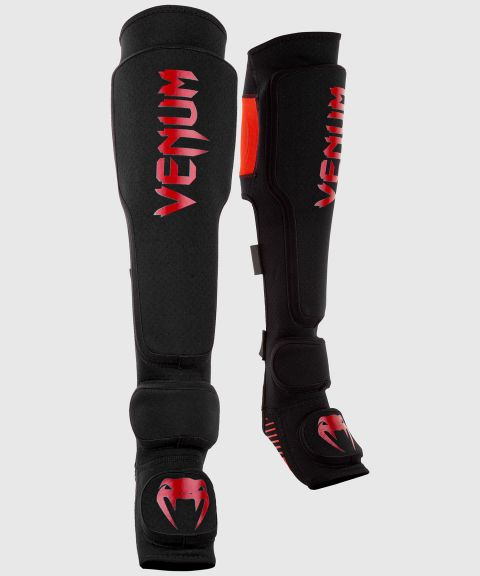 Venum Kontact Evo Shin Guards - Black/Red