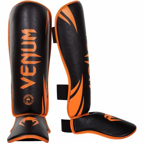 Venum Challenger Standup Shin guards - Neo Orange/Black