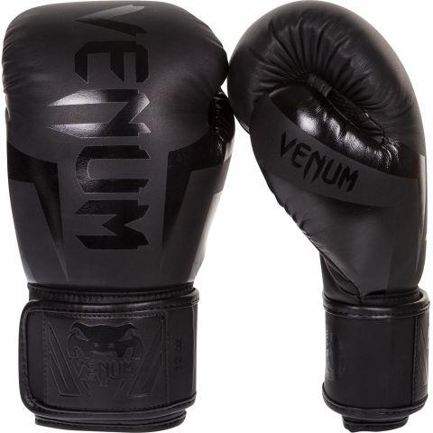 Venum Elite Boxing Gloves - Black