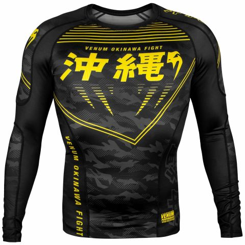 Рашгард Venum Okinawa 2.0 - Длинный рукав - Черный/Желтый