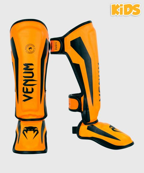 Venum Elite Shin Guards Kids - Exclusive - Neo Orange