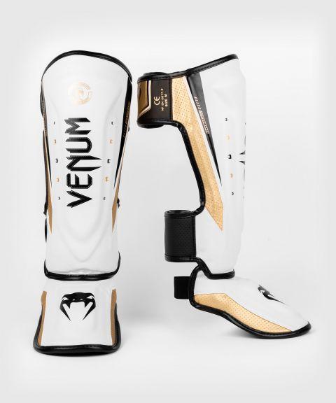 Venum Elite Evo Shinguards - White/Gold