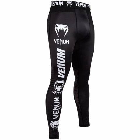 Venum Logos Compresssion Tights - Black/White