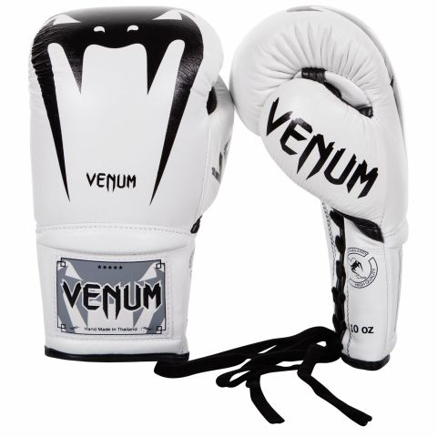 Venum Giant 3.0 Boxing Gloves - Nappa Leather - With Laces - White