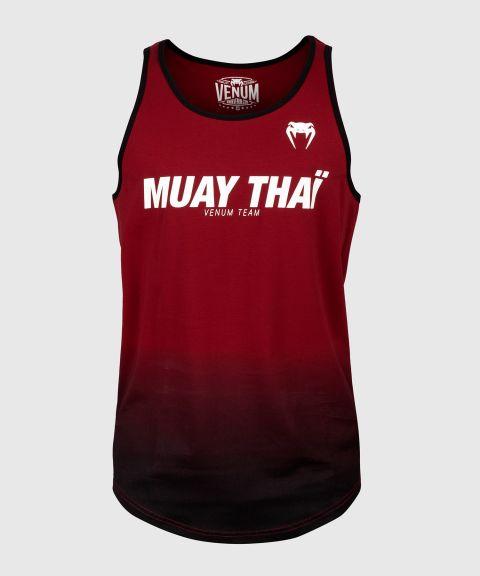 Майка Venum Muay Thai VT - Красное вино/Черный