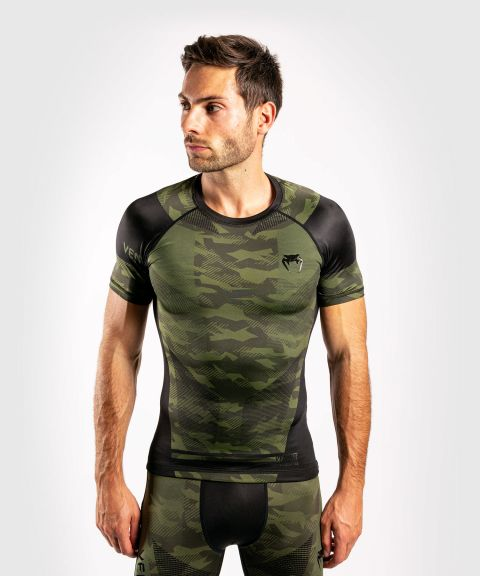 Venum Trooper Rashguard - Short sleeves - Forest camo/Black