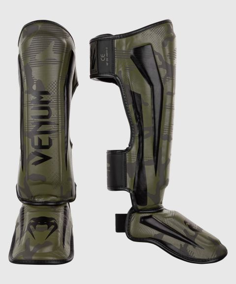 Venum Elite Shin Guards - Khaki camo