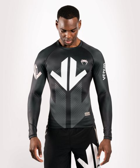 Venum Arrow Loma Signature Collection Long Sleeve Rashguard - Black/White