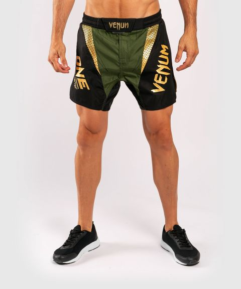Venum x ONE FC Fightshorts - Khaki/Gold