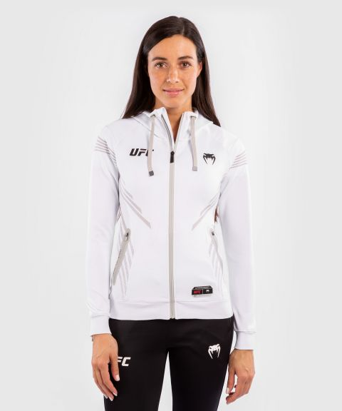 UFC Venum Authentic Fight Night Women's Walkout Hoodie - White