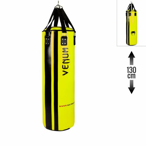 Venum Hurricane Punching Bag - Filled - 130 cm - Black/Yellow