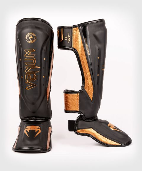 Venum Elite Evo Shinguards - Black/Bronze