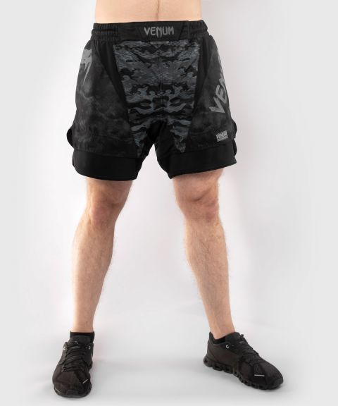 Шорты Venum Defender Fightshorts - Dark camo
