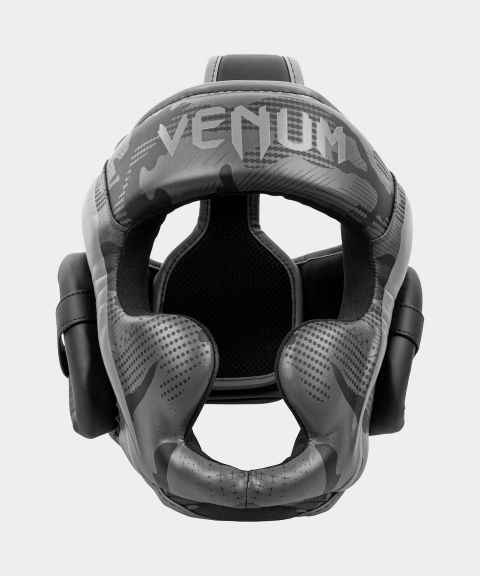Venum Elite Boxing Headgear - Black/Dark camo