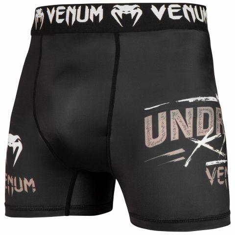 Компрессионные шорты Venum Underground King — черный/песочный