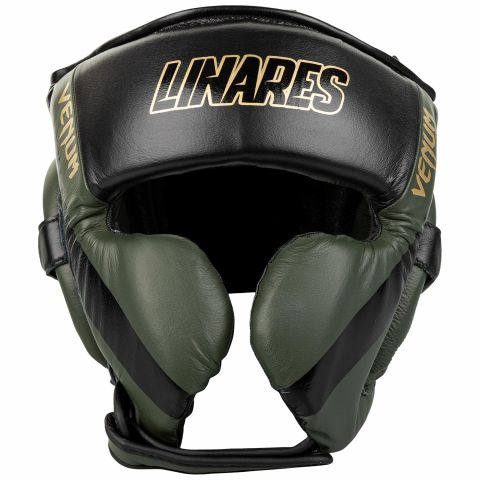 Venum Pro Boxing Headgear Linares Edition - Khaki/Black/Gold