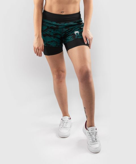 Venum Defender Hybrid Compression Short  - Black/Green