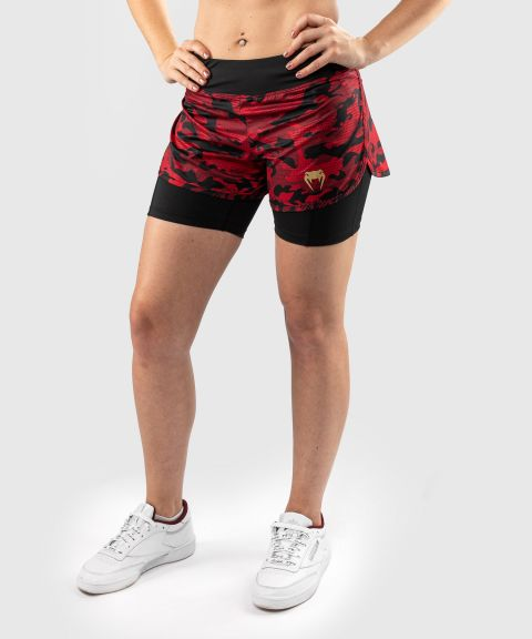 Venum Defender Hybrid Compression Short  - Black/Red