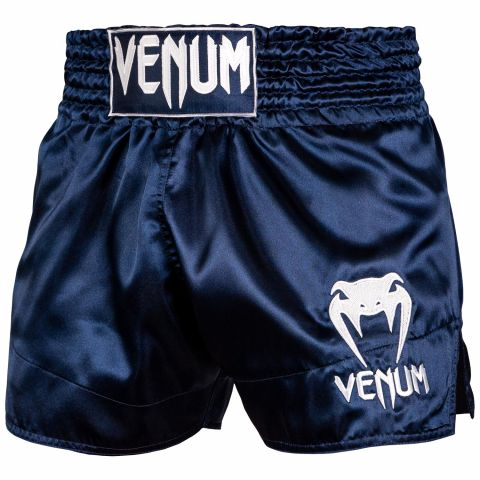 Шорты для тайского бокса Venum Classic - Navy Blue/White
