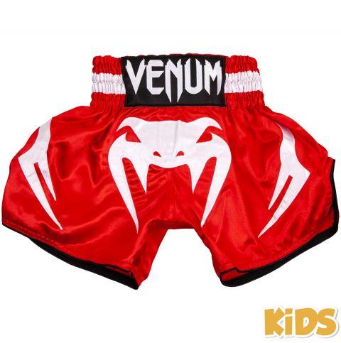 Детские шорты для тайского бокса Venum Bangkok Inferno - Красный/Белый - 14 лет