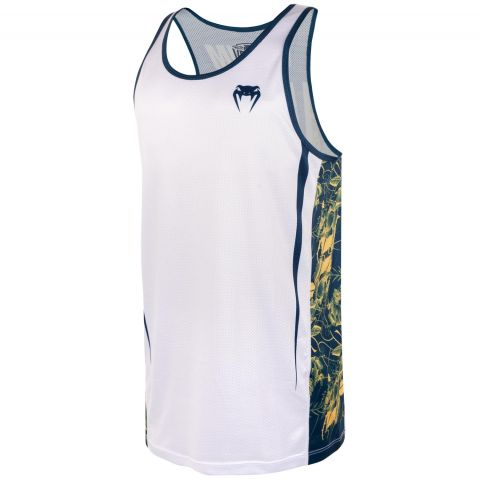 Venum Aero 2.0 Tank Top - White/Floral Yellow-Blue