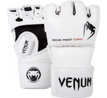 Venum Impact MMA Gloves - Skintex Leather - White