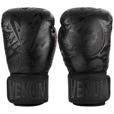 Venum Dragon's Flight Boxing Gloves - Black/Black