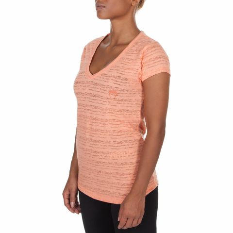 ФУТБОЛКА VENUM ESSENTIAL V NECK - Apricot