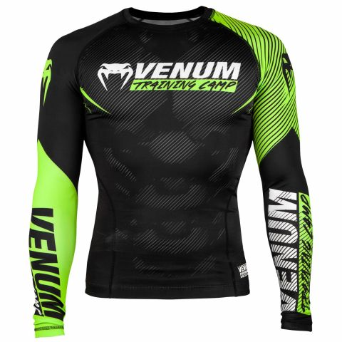 Venum Training Camp 2.0 Rashguard - Long Sleeves - Black/Neo Yellow