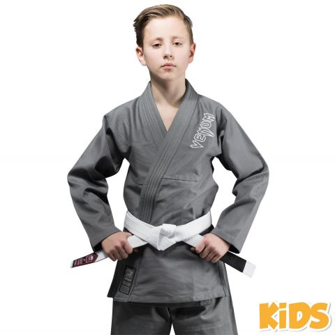 Venum Contender Kids BJJ Gi (Free white belt included) - Grey