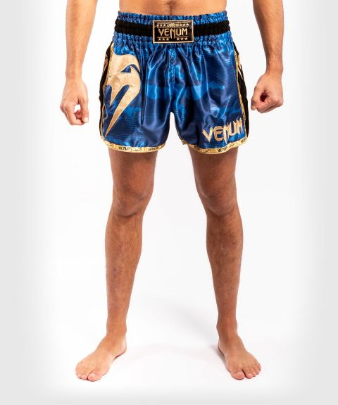 Venum Giant Camo Muay Thai Shorts - Blue/Gold