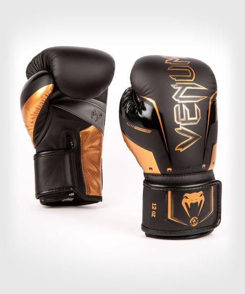 Боксерские перчатки Venum Elite Evo - черный/бронзовый