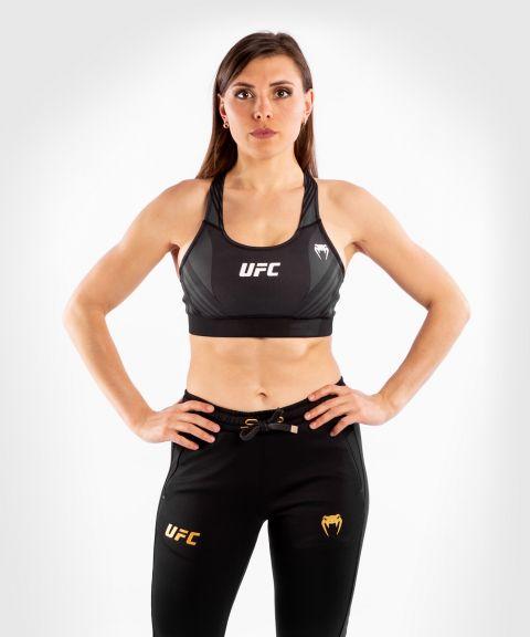 UFC 베넘 어쎈틱 파이트 나이트 여성 스포츠 브라 - 검정