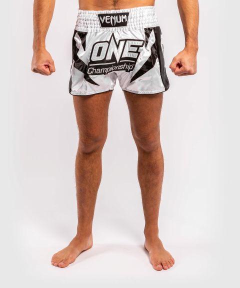 Шорты для тайского бокса Venum x ONE FC  - Белый/Черный