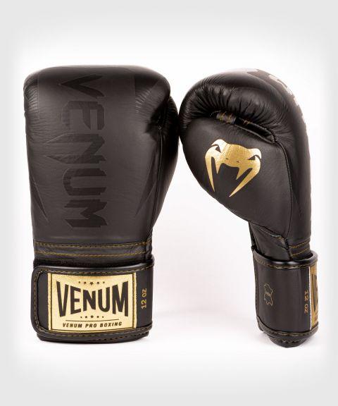 Venum Hammer Pro Boxing Gloves Velcro - Black/Black-Gold