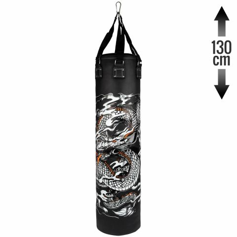 Venum Dragon's Flight Heavy Bag - Black/White - 130 cm
