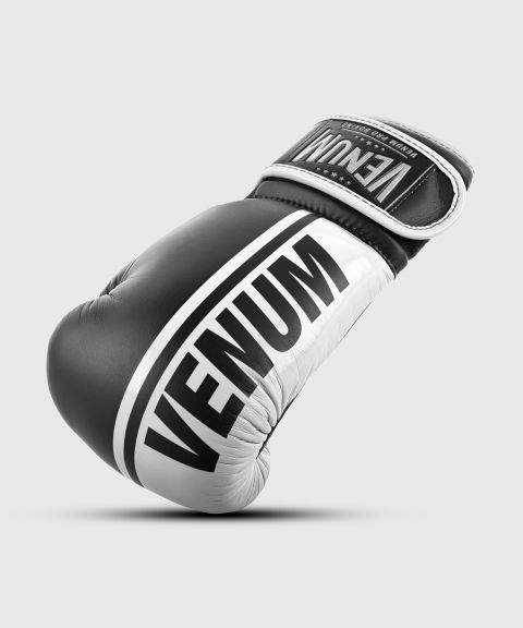 Venum Shield Pro Boxing Gloves Velcro - Black/White