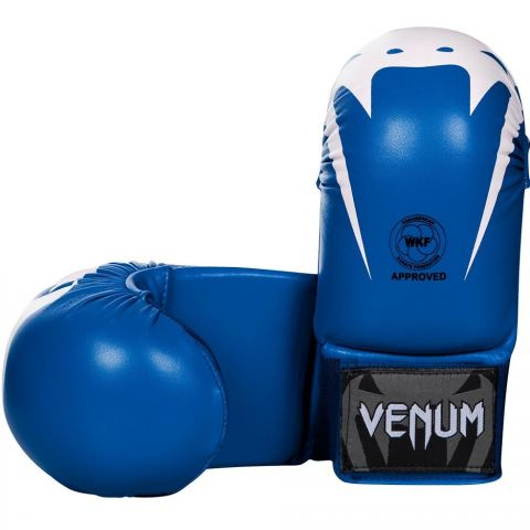 Venum Giant Karate Mitts - Without Thumbs - Approved by the PKF - Blue