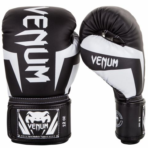 Venum Elite Boxing Gloves - Black/White