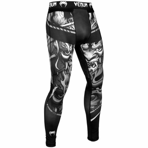 Venum Devil Compresssion Tights - White/Black