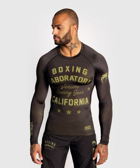 Venum Boxing Lab Rashguard - Long sleeves - Black/Green