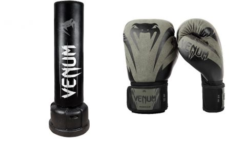 Venum Quarantine Pack 3 (Free standing punching bag + boxing gloves)