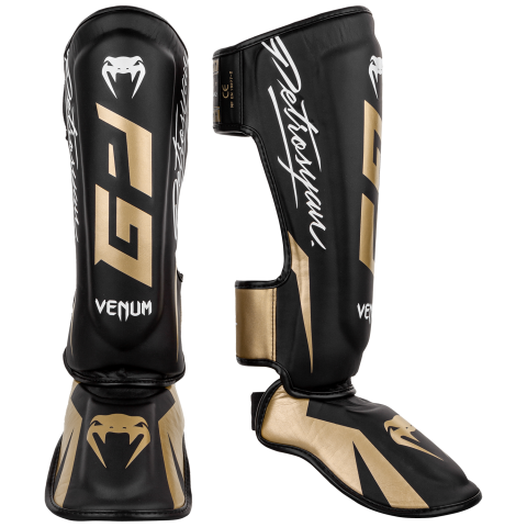 Venum Petrosyan Shinguards - Black/Gold