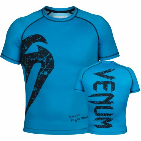 Venum Original Giant Rashguard - Short Sleeves - Cyan/Black