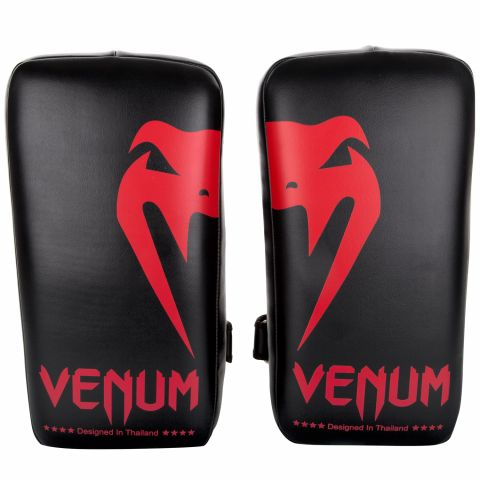 Venum Giant Kick Pads - Black/Red (Pair)