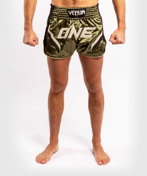 Venum ONE FC Impact Muay Thai Shorts - Black/Khaki