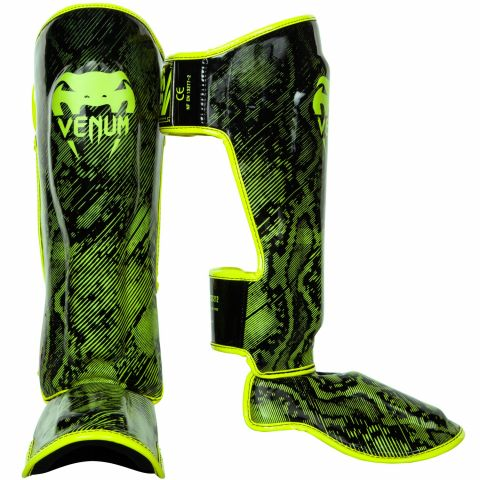 Venum Fusion Shin guards - Neo Yellow/Black